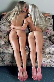 Horny Blondes Play-in-Pantyhose for New Nude City