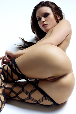 Marjana in fishnet stockings for Hegre Art