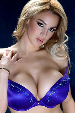 Jordan Carver In A Smokey Blue Bra