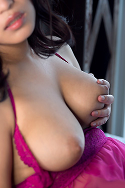 Busty Asian Emi Asano In A Purple See Through Babydoll